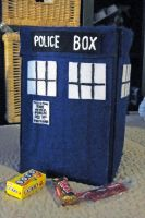 Tardis Candy Sack by egyptianruin