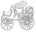 Dual Seated Horse and Carriage - Lineart by Megabitron