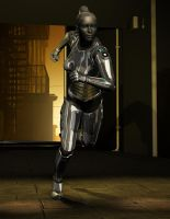 cyborg running by whitewillow2010