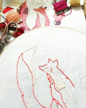 Queen of Giving No 'Fox' Stitchie - WIP by crimsonandclever
