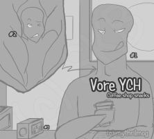 Vore YCH: Coffee shop snack (open) by MythrilMog