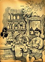 Warble Bar Scene by hyronomous