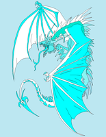 Ice Dragon by kasanelover