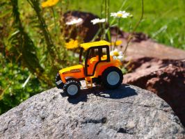 Yellow Tractor 05 by K1ku-Stock