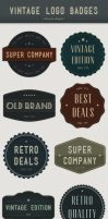 Modern Vintage logo badges by loreleyyy