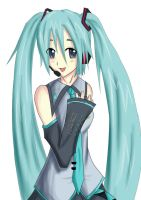 Hatsune Miku coloured by Origami-sumurai