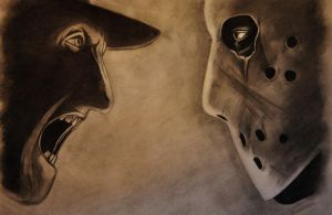 Freddy Vs. Jason by LouiseDynamite