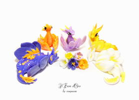 Crocus dragons, second nest 2 by rosepeonie