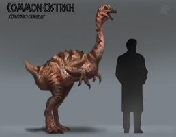 Ostrich - Jurassic Park version by Raph04art