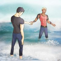 YJ: Aqualad and Superboy by Nevheera