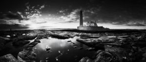 Beacon of Light BW by almiller