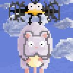 Boh and Bird Pixel Animation by RoosmaRoo
