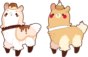 1 LEFT -!Special - Dessert Alpaca Adoptable Set #2 by SweetlyWhipped