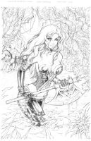 Zenescope Wonderland #21 Cover Pencils by Dawn-McTeigue