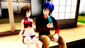 [MMD] KAITO/MEIKO - Afternoon Together by ClearJellyfishy