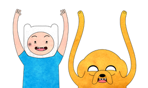 Finn and Jake by jerkmilk