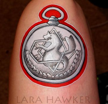Body art - FMA State Alchemist Symbol by larahawker