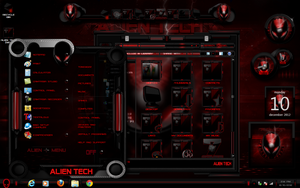 Windos 7 Theme Alien Tech (Red) by ToxicoSM
