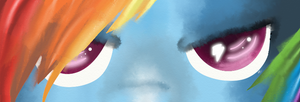 Rainbow Dashs Eyes by pinkhatsyndrome