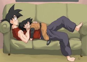 Goku and Goten For carapau by Socij