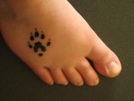 Ferret Paw Tattoo by Remedy-Kiua