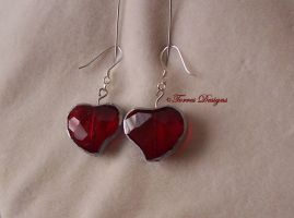 1st Heart Container Earrings Zelda OoT OOAK Custom by TorresDesigns