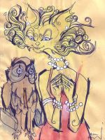 The Owl and the Pussycat by snail-lady