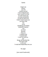 Forgive me (destiel poem) by Castielogically