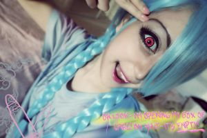 League of legends - Jinx!! make up test shoot (3) by ChupiChupp