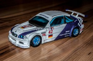 Bmw M3 GTR paper model by xdeks