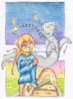 ...:The ghost and the girl:.. by Kitka