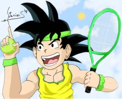Sports Man Goku :Tenis: by balsen