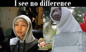 Rap Monster and E.T! They do look the same...TWINS by K-Pop-Dude