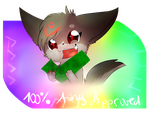 100% ASHY APPROVED - sticker by vaporeonshit