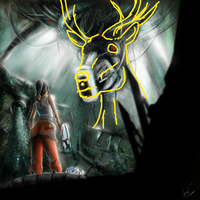 "The Deer in ""oh it's you..."" by patchesofheaven74"
