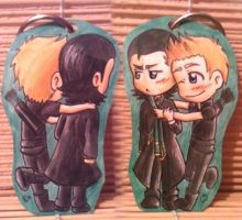 Charms: Loki x Clint - Arttrade by Freaky-chan