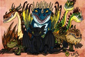 Dragons of HTTYD by marsu305