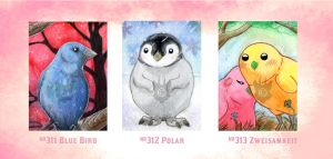 ACEO Birds by Beast91