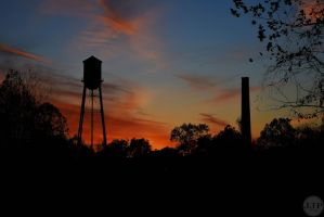 Sunset on the old mill by Joseph-W-Johns