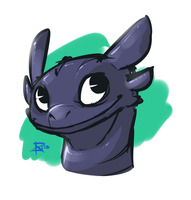 Toothless profile by UltraHurtMan