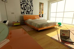 3D bedroom_2 by gianf