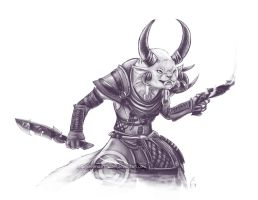 Unfathomed--shdaed-sketch--GW2 commission by Aerindarkwater