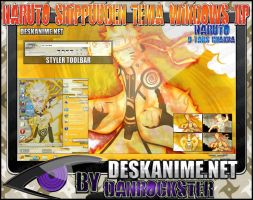 Naruto 9 Tails Chakra Theme Windows XP by Danrockster