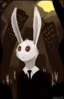 Zombie Rabbits Go to Work by silentkitty