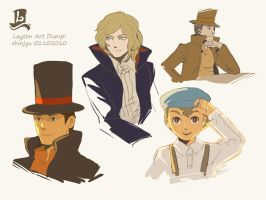 Layton Doodles 01 by shinjyu