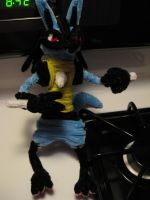 Pipecleaner Lucario by DarkSaberCat