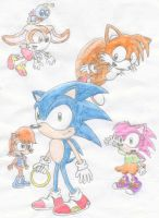 Sonic and Friends by Kimmy-the-Echidna