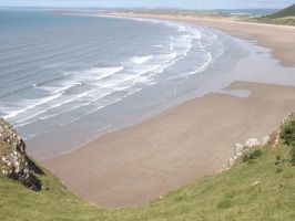 Rhossili Bay, Gower by nonyeB