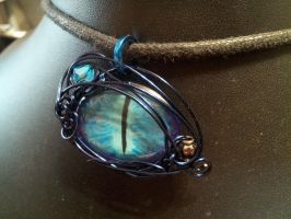 Blue Simple Wrap Eye In Light Blues by BacktoEarthCreations