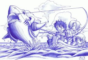 One Piece - Lifeboat by Nami-Blue
